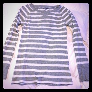 Grey and white striped thermal